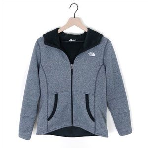 The North Face Gray Zip Up Fleece Lined Hoodie
